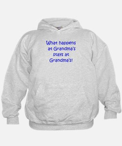 Happens at Grandmas (blue) Hoodie