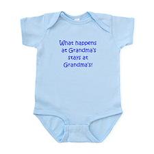 Happens at Grandmas (blue) Infant Bodysuit