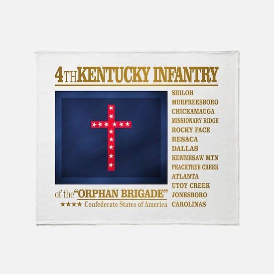 4th Kentucky Infantry Throw Blanket