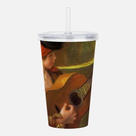 Renoir Spanish Woman w Acrylic Double-wall Tumbler