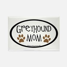 Greyhound Mom Oval Rectangle Magnet