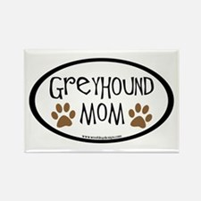 Greyhound Mom Oval Rectangle Magnet (10 pack)