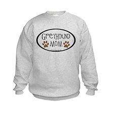 Greyhound Mom Oval Sweatshirt