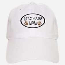 Greyhound Mom Oval Baseball Baseball Cap