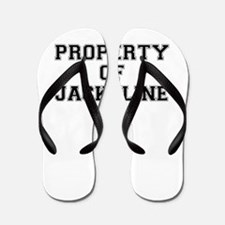 Property of JACKELINE Flip Flops