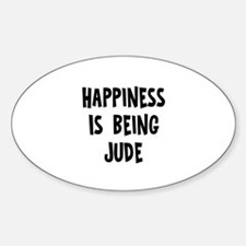 Happiness is being Jude Oval Decal