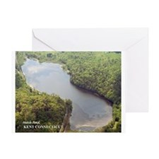 Hatch Pond - Aerial Greeting Card
