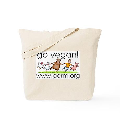 Go Vegan! Dancing Animals Tote Bag
