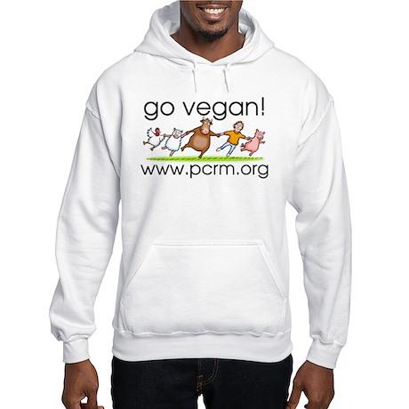 Go Vegan! Dancing Animals Hooded Sweatshirt