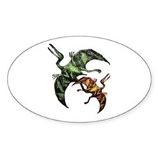 Pteranodon Oval Decal