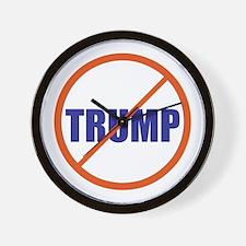 no Trump, never Trump, anti Trump Wall Clock