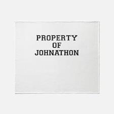 Property of JOHNATHON Throw Blanket