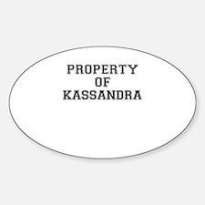 Property of KASSANDRA Decal