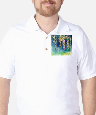 Floral Painting Golf Shirt