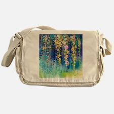 Floral Painting Messenger Bag