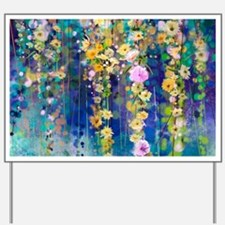 Floral Painting Yard Sign