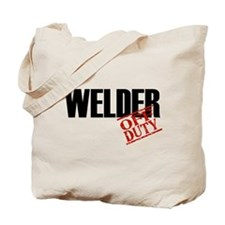 Off Duty Welder Tote Bag