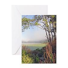 Hatch Pond - Mist - Color Greeting Card