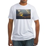 sun through clouds Fitted T-Shirt