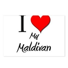 I Love My Maldivan Postcards (Package of 8)