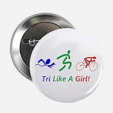 """Cute Triathlon 2.25"""" Button (100 pack)"""
