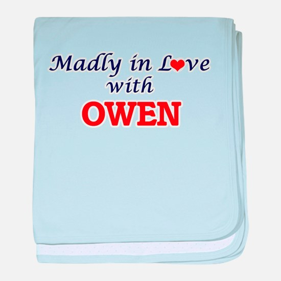 Madly in love with Owen baby blanket