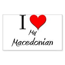 I Love My Macedonian Rectangle Decal