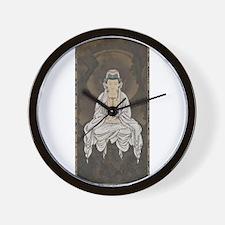Kannon Scroll Wall Clock