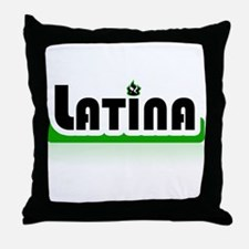 Latina Green! Throw Pillow