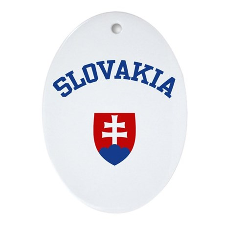 Slovakia Coat of Arms Oval Ornament