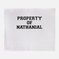 Property of NATHANIAL Throw Blanket