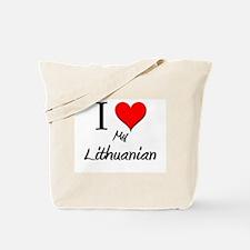 I Love My Lithuanian Tote Bag