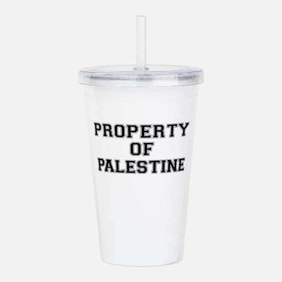 Property of PALESTINE Acrylic Double-wall Tumbler