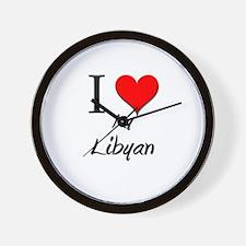 I Love My Libyan Wall Clock