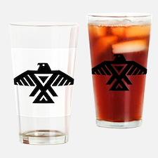 Anishinaabe Thunderbird flag Drinking Glass
