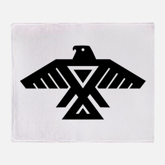 Anishinaabe Thunderbird flag Throw Blanket