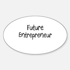 Future Entrepreneur Oval Decal
