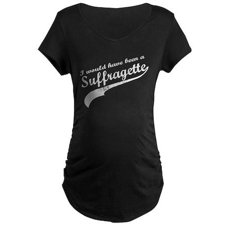 Suffragette Maternity Dark T-Shirt
