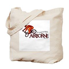 AIRBORNE-NO FEAR NO RULES Tote Bag
