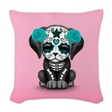 Day of the dead dog Woven Pillows