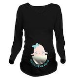 Due date Dark Long Sleeve Maternity T-Shirt