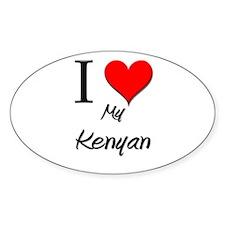 I Love My Kenyan Oval Decal