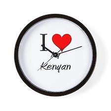 I Love My Kenyan Wall Clock