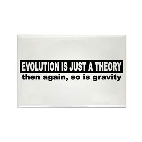 Evolution is a theory Rectangle Magnet