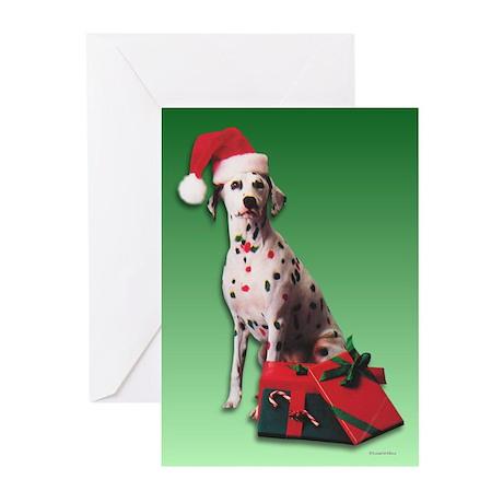Santa Dalmatian Greeting Cards (Pk of 10)