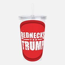 Rednecks for Trump Acrylic Double-wall Tumbler