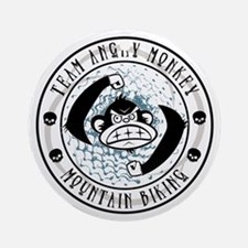 Team Angry Monkey Ornament (Round)