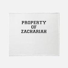 Property of ZACHARIAH Throw Blanket