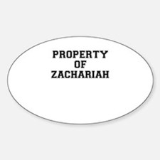 Property of ZACHARIAH Decal