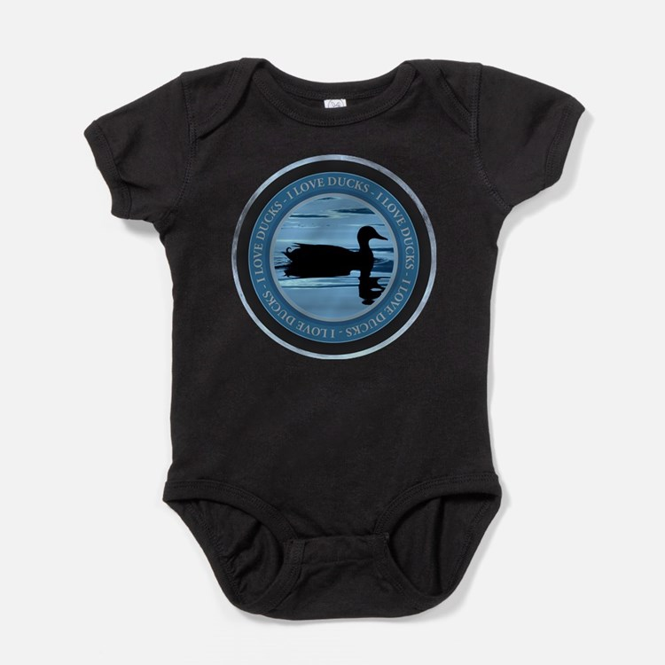 I Love Ducks Baby Bodysuit